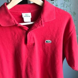 Lacoste Men's Classic Red Short-Sleeve Polo